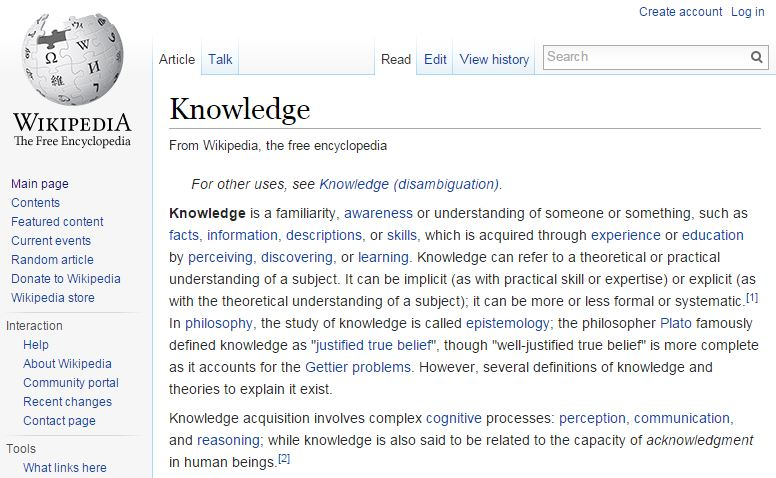 Knowledge - Wikipedia