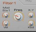 Filter Section X=Cutoff : X-Y=Morph